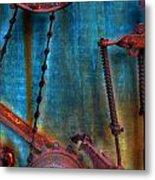 Strained Gears  Metal Print