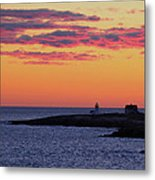 Straitsmouth Lighthouse Sunrise Metal Print