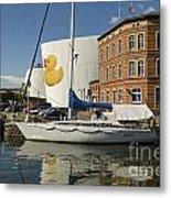 Stralsund Harbour Germany. Metal Print by David Davies