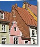 Stralsund Roofs. Metal Print by David Davies