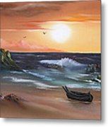 Stranded At Sunset Metal Print by Cynthia Adams