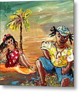 Stranded In Tahiti Metal Print