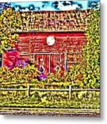 Strange Day At The Barn Metal Print