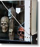 Strangers Behind The Window Of A Barge Metal Print