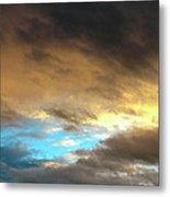 Stratus Clouds At Sunset Bring Serenity Metal Print