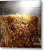 Straw Bale In Old Barn Metal Print by Olivier Le Queinec