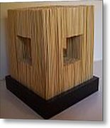 Straw Cube Metal Print by Daniel P Cronin