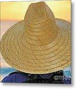 Straw Hat Metal Print
