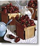 Strawberries And Cream 1997 Metal Print