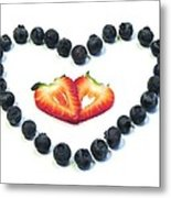 Strawberries Are Red Blueberries Are Blue Metal Print