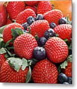 Strawberries Blueberries Mangoes - Fruit - Heart Health Metal Print