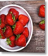Strawberries Metal Print by Jane Rix