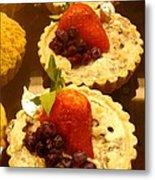 Strawberry Blueberry Tarts Metal Print