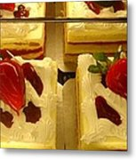 Strawberry Cakes Metal Print