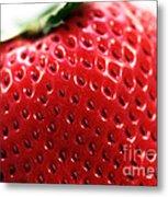 Strawberry Detail Metal Print
