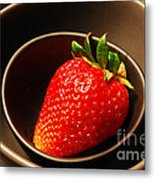 Strawberry In Nested Bowls Metal Print