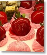 Strawberry Mousse Metal Print