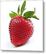 Strawberry On White Background Metal Print