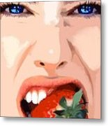 Strawberry - Pretty Faces Series Metal Print