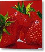 Strawberry Red Metal Print