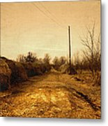 Strawmill Road Metal Print