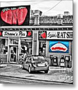 Strawn's Eat Shop Metal Print