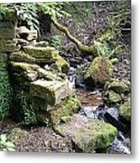 Stream And Wall Metal Print