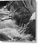 Stream Cascades Over Small Dam Metal Print