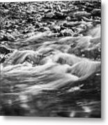 Stream Fall Colors Great Smoky Mountains Painted Bw  Metal Print