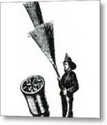 Stream Spreading Water Nozzle, 1865 Metal Print