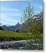 Stream To The Fjord Metal Print