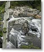 Stream With Waterfall In Vermont Metal Print