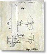 1929 Stearman Patent Drawing Metal Print