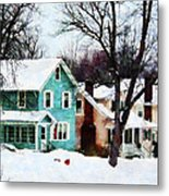 Street After Snow Metal Print