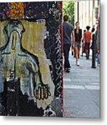 Street Art And Street Scene London Metal Print
