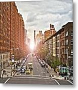 Street As Seen From The High Line Park Metal Print