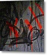 Street Conversation Metal Print