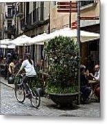Street Corner Girona Spain Metal Print