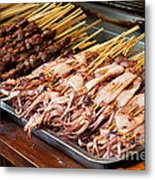 Street Food, China Metal Print