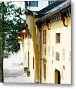 Street In Anhui Province China Metal Print