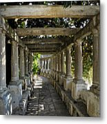 Street In Historic In Granada Metal Print