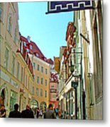 Street In Old Town Tallinn-estonia Metal Print