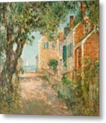 Street In Provincetown Metal Print by  Childe Hassam