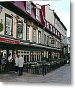 Street In Quebec Metal Print
