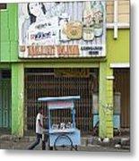 Street In Surabaya Indonesia Metal Print