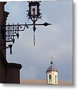 Street Lamp, Assisi Metal Print