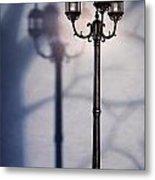 Street Lamp At Night Metal Print by Oleksiy Maksymenko