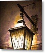 Street Lamp Shining Metal Print