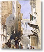 Street Leading To El Azhar, Grand Metal Print