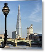 Street Light And Shard Metal Print